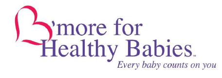 Logo for B'more for Healthy Babies