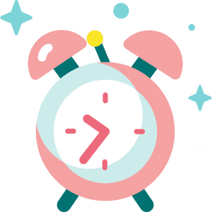 icon drawing of an alarm clock