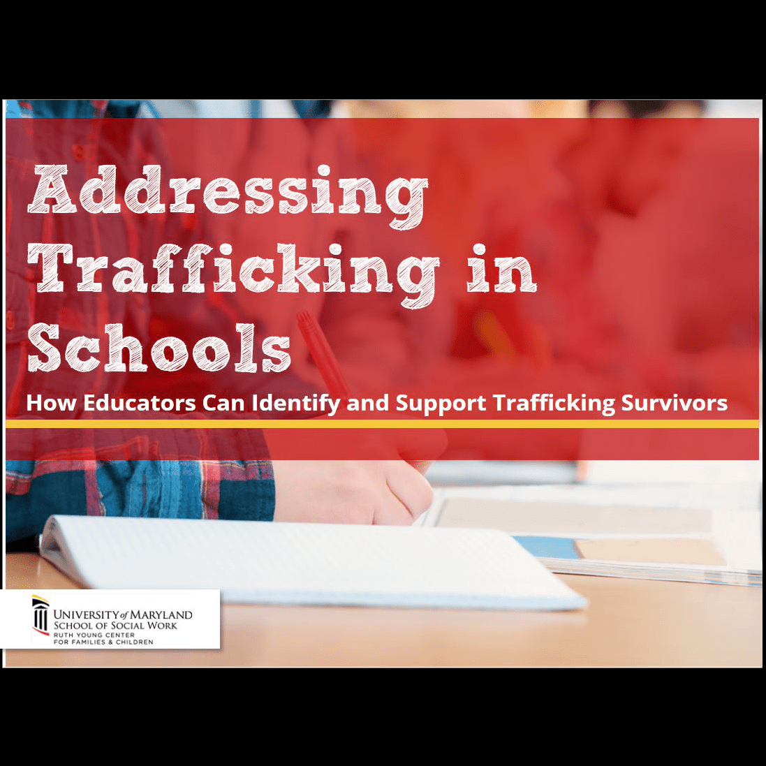 elearning cover of Addressing Trafficking in Schools