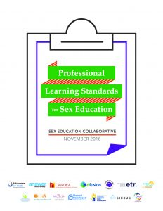 Professional Learning Standards for Sex Education Cover