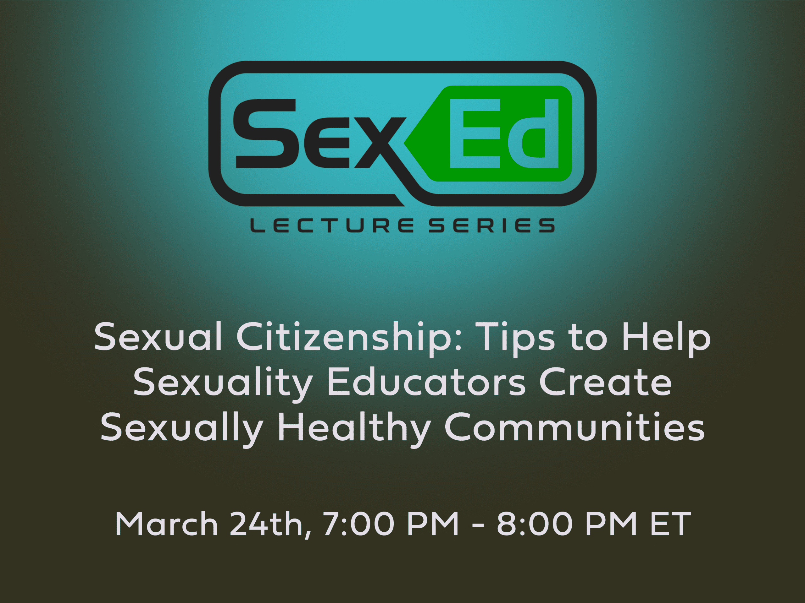 Sex Ed Lecture Series
